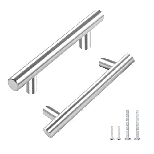 30 Pack Furnikko 5 inch Cabinet Pulls Brushed Nickel Cabinet Hardware Drawer Pulls Modern Stainless Steel Kitchen Cabinet Handles, 3 inch Hole Center.