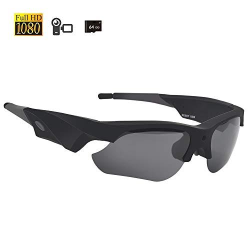 Sunglasses Camera 1080P, Miota Mini Video Glasses Anti Glare & UV Protection Eyewear for Sports,Riding,Fishing,Motorcycle
