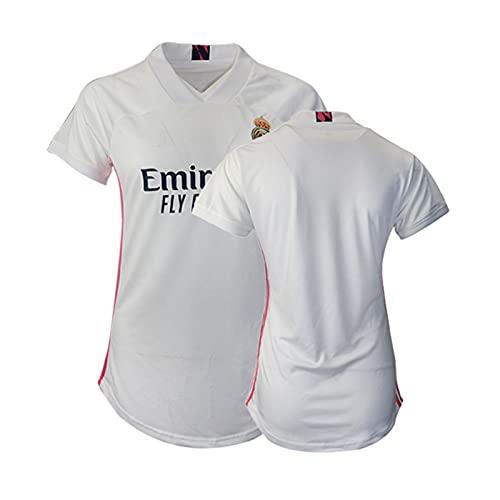BASTB Inicio Camiseta Fútbol Mujer 2020/21 - Camiseta de Fútbol Sportswear S-XXL, blanco, XXL