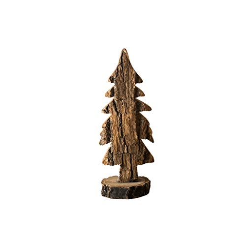 ZANZAN Mini Christmas Tree Small Artificial Christmas Trees Tabletop Christmas Tree Original Wooden Christmas Tree for Mori Series Christmas Tree Ornaments Small Christmas Tree (Size : Spruce 23CM)