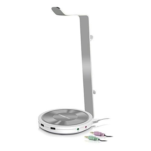 Speedlink ESTRADO Headset-Aufsteller USB - multifunktioneller Aufsteller für Kopfhörer, Kabellänge 90cm, Hohe Klangqualität dank integrierter USB-Soundkarte, Praktische Status-LED, schwarz