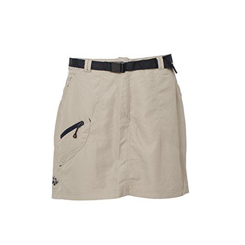 DEPROC-Active Damen Granby Skort kurzer Rock mit innen eingearbeitem Shorts, Sand, 40