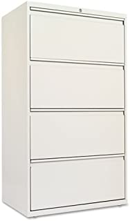 Alera LF3054LG Four-Drawer Lateral File Cabinet, 30w X 19-1/4d X 53-1/4h, Light Gray