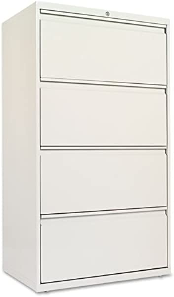 Alera LF3054LG Four Drawer Lateral File Cabinet 30w X 19 1 4d X 53 1 4h Light Gray