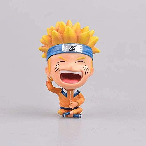 Naruto Uzumaki Naruto 3 9 en Asiento de Postura Smiley Anime Carácter Modelo PVC Figurine Estatua Figura Dibujos Animados Juego Objetos de Juguetes Adultos Coleccionables Decoración
