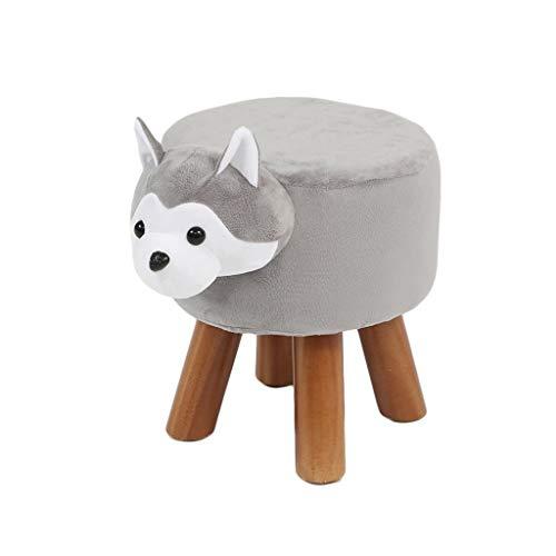 F-Home Ottomane-kruk, schattig dier voor huis, tuin, veiligheid, antislip, van zacht hout