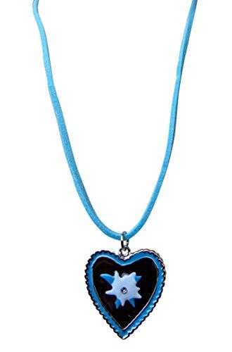 OS03 Exclusive Dirndl accessorio, collana di corrispondenza l'abito Dirndl, colore blu