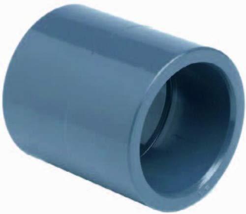 PVC Muffe 63mm mit 2 Klebemuffen bis 10Bar TOP Qualität