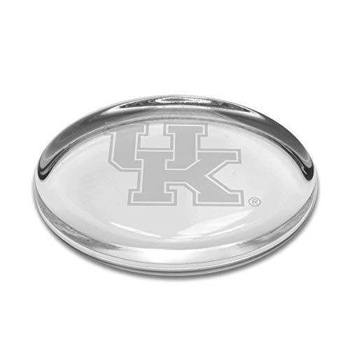 University Glass NCAA Kentucky Wildcats Oval Paperweight, Clear, One Size
