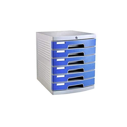 XUSHEN-HU Cajonera de escritorio con 5 capas con cerradura de plástico para oficina, tamaño A4, 30 x 38 x 31,5 cm (tamaño 6 capas)
