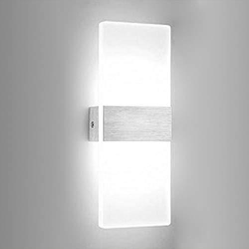 Hengda LED Wandleuchte Wandlampen,6W LED Wandlampe Weiß Wandbeleuchtung Acryl Badlampe InnenleuchteBeleuchtung Modern IP44 Badezimmerlampe Für Wohnzimmer Schlafzimmer Badezimmer Energieklasse A++