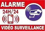 Panneau alarme vidéo surveillance. 200x333mm