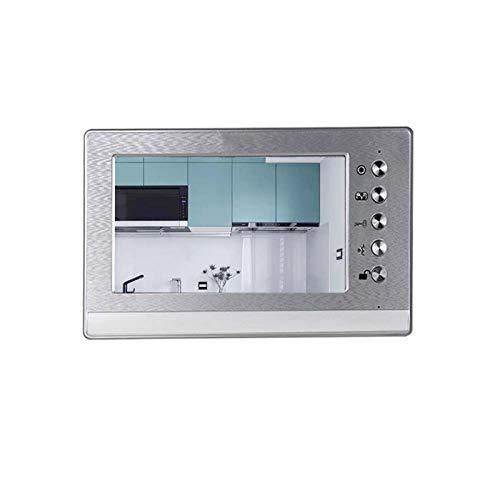 DNAMAZ Portero Sistema de Monitor de teléfono de Video de Video de 7 Pulgadas de intercomunicación con Cable con cámara de Timbre Impermeable automatico (Color : Single Monitor)