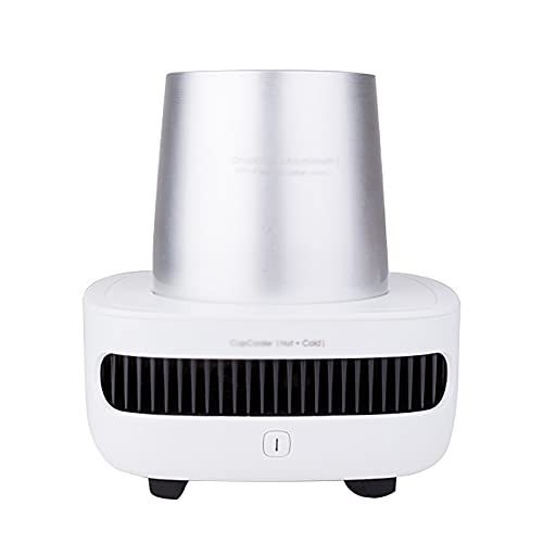 Beverage Cooler Cup Multi-function Heating And Cooling Cup Office Mini Refrigerator Hot And Cold Cup Cup Cooler (Color : Silver, Size : 300ml)