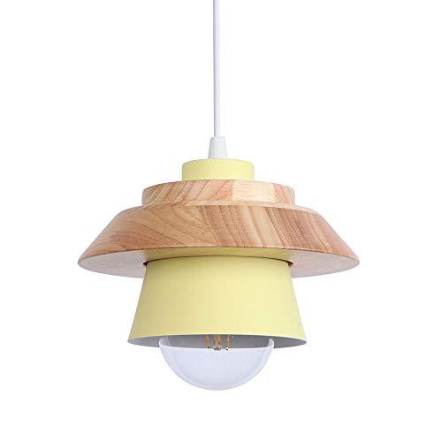 Industrielle LED Pendelleuchte Eisen Lampenschirm Hängelampe Wohnzimmer Dekorativ Deckenleuchte Gelb