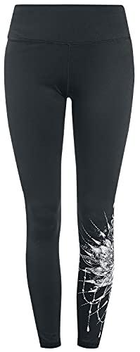 EMP Sport and Yoga - Leggings Negros con detallado Estampado Mujer Leggins Negro 5XL