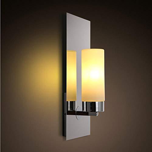 Moderne wandlamp moderne minimalistische slaapkamer nachtkastje creatieve kandelaar muur lamp chroom hotel gang gang gang