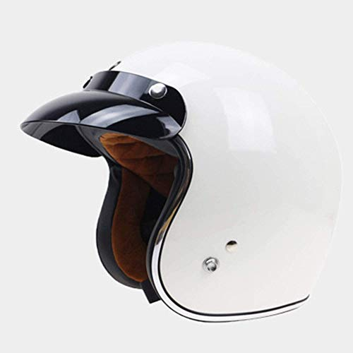 ZHXH Motorcycle Helmet Retro Harley Half Helmet 3/4 Cruiser Scooter Scooter Scooter D.o.t Certified Male And Female Anti-collision Motorcycle Helmet And Goggles