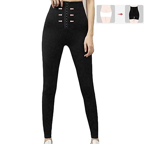 FJLK Women Sexy Stretchy High Waist Corset Body Shaper Skinny Pants Fitness Leggings,High Waist Compression Leggings (XXL)