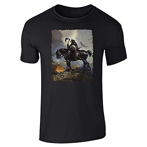 Death Dealer by Frank Frazetta Art Short Sleeve T-Shirt Print T Shirt Mens Short Sleeve Hot Top Tee for Man Better Color M