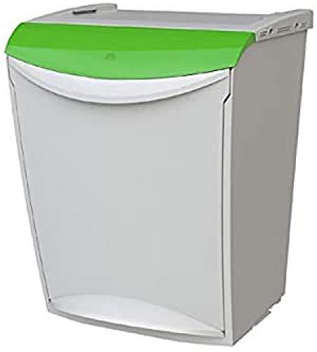 Denox Cubo Basura ecológico, Verde y Gris, Centimeters