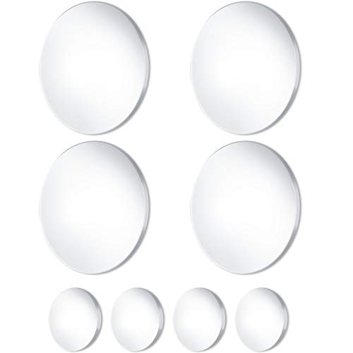 8 Pieces Transparent Door Stopper Wall Protector, Door Knob Wall Protectors Adhesive Door Stopper Door Bumper Wall Guard for Door Handle Wall Protection, 4 Pieces 3.15 Inch and 4 Pieces 1.97 Inch