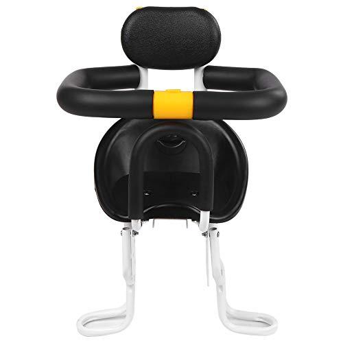Nuova Sicurezza Bambino Bicycle Seat Bike Bike Seat Bambini Sella per Bambini con Pedali a Piedi Supporto Riposa per la Schiena per MTB Road Bike Bambini (Color : White)
