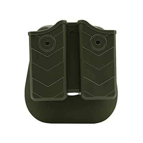 efluky Porta Caricatore Tasca Portacaricatori Porta Caricatore per Fondina Golck 17 19/Beretta 92 96 FS/CZ 75 Tactical Sports/Walther P99/Sig Sauer p226/H&K, Paddle 60° Regolabile