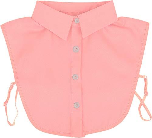 styleBREAKER Damesblouse Kraaginzet met knoopsluiting effen, kraag voor blouses en truien 08020004