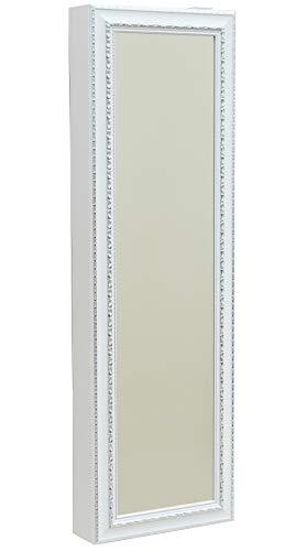 Lightclub-Shop.de Schuh-Bert 500 BAROCK Weiss Spiegel-Schuhschrank Weißer-Rahmen