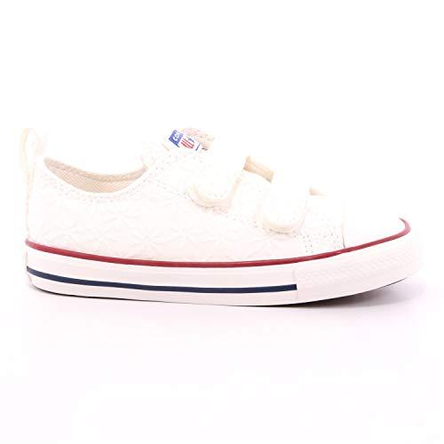 Converse Sneaker Low Chuck Taylor All Star 2v Ox Ki Weiss Madchen - 23 EU