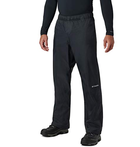 "Columbia Men's Rebel Roamer Rain Pant, Black, Medium x 32"" Inseam"