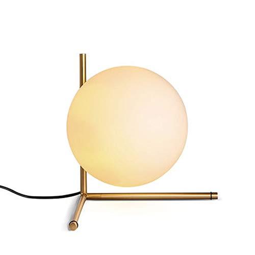Melkwit Glas Schaduw, Warm Licht Metalen Frame Ontworpen Voor De Woonkamer Slaapkamer Nachtkastje Lamp Art Deco