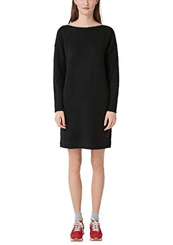 s.Oliver RED Label Damen Lockeres Strickkleid aus Wollmix Black 40