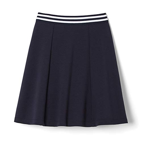 French Toast Girls' Big Stretch Contrast Waistband Scooter, Navy, XL (14/16)