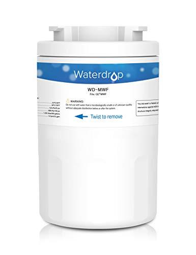 Waterdrop MWF Cartucho de Filtro de Agua para Nevera/frigorífico - General Electric GE SmartWater MWF MWFA MWFP GWF GWFA GWF01; Hotpoint HWF HWFA MWF MWFA; Sears/Kenmore 46-9991; 53-WF-07GE WF07 (1)