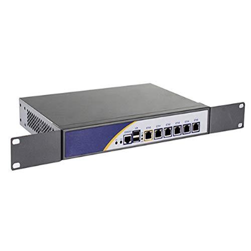 Firewall Mikrotik Desktop Type Pfsense VPN Network Security Appliance Router PC Intel D510,[SNWELL E3],(6LAN/LAN/2USB/1VGA/COM)