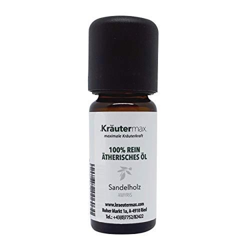 Kräutermax Sandelholz Duft Öl (Amyris) naturrein 1 x 10 ml 100% ätherisch