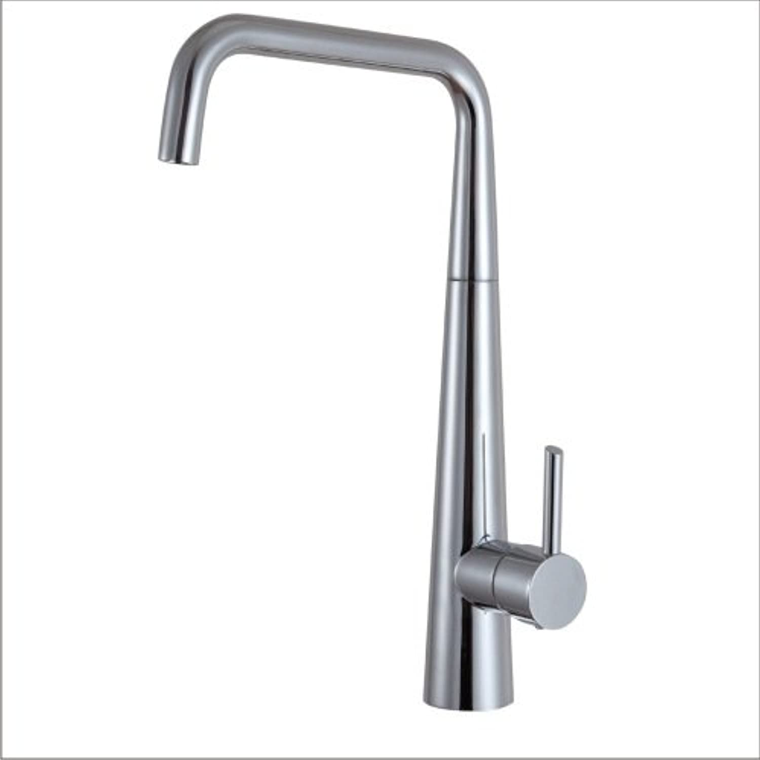 Commercial Single Lever Pull Down Kitchen Sink Faucet Brass Constructed Polished Faucet Kitchen Sink Hot and Cold Water Mixer Tap Copper Lead-Free Sink Faucet