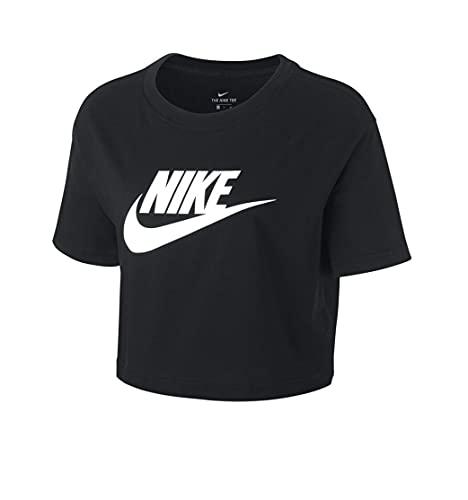 Nike Futura Icon Cropped Women Shirt (L, Black)