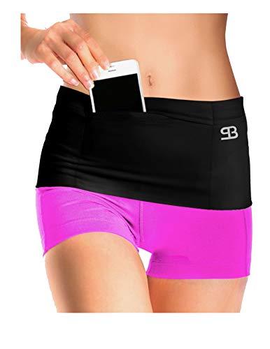 Stashbandz Unisex Running Belt Fanny Pack, Money Belt & Insulin Pump Belt, Travel Pouch, 3 Large & 1 Zipper Security Pockets, Phone & Passport Holder