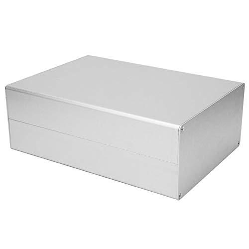 Aluminium-Projektbox, silberne Projektbox mit elektronischem Gehäuse aus extrudiertem Aluminium, DIY GPRS-Leiterplattenschale 80x160x220mm Box für elektronische Produkte