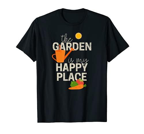 The Garden Is My Happy Place - Regalo de jardinería para jardineros Camiseta