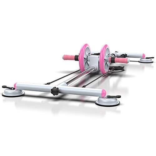 JCSW Rueda Abdominales, Fitness Rodillo Gimnasio en Casa Pesas Ejercicio en Casa, Premium AB Roller Dispositivo de Entrenamiento de Fuerza Abdominal para Ejercicio Gimnasio en Casa, K002PO