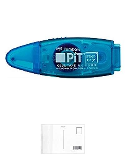 トンボ鉛筆 テープのりピットリトライCNアクア PN-CRNC40 【× 5 個 】 + 画材屋ドットコム ポストカードA