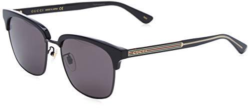 GUCCI GG0382S-001 Gafas de sol, Negro/Dorado, 56 para Hombre