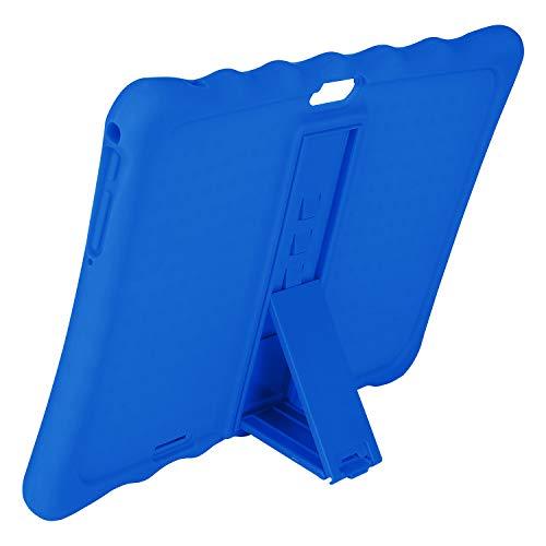 LAMZIEN Schutzhülle aus Silikon, verschiedene Winkeleinstellungen, geeignet für LNMBBS, Tablet, 25,4 cm (10 Zoll), Blau