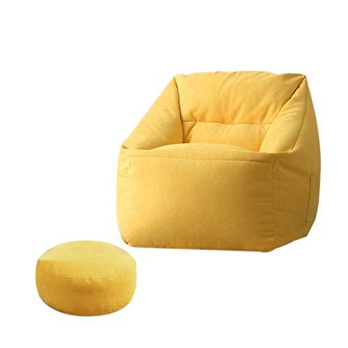 SD Bean Bag Chaise/canapé/Fauteuil/1 Poches/avec Repose-Pied/Confortable/pour Enfants et adultes/65 * 65 * 65cm