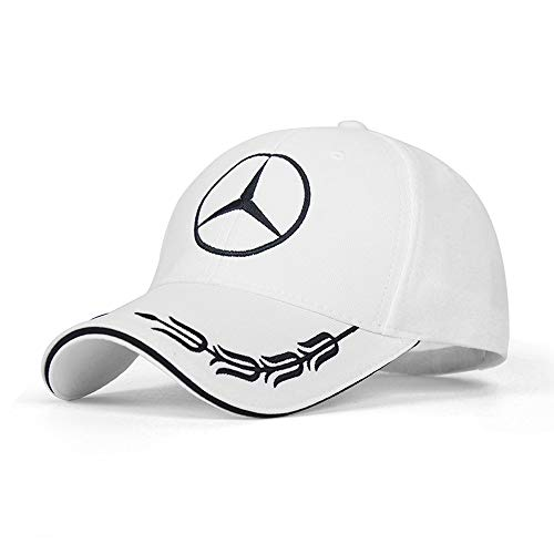red Westion Mercedes-Benz Logo Embroidered Adjustable Baseball Caps for Men and Women Hat Travel Cap Car Racing Motor Hat