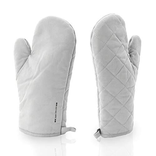 ShyaWorld Manoplas de Cocina horno Pack guantes resistentes al calor de diseño, adecuado para cocinar, hornear, barbacoa con diferentes colores y material para elegir. (ALGODÓN MIRÓ GRIS)